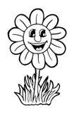 与微笑的向日葵 库存照片