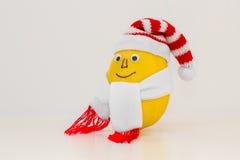 与微笑的柠檬在盖帽和围巾 库存图片