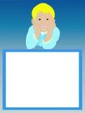 与微笑的男孩的空白的框架 库存图片