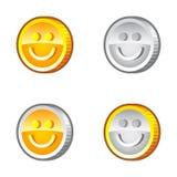 与微笑的硬币 库存照片