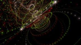 与微粒条纹对象的意想不到的动画在慢动作, 4096x2304圈4K