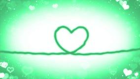 与微粒的心脏线 免版税库存照片