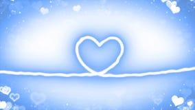 与微粒的心脏线 免版税图库摄影