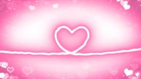 与微粒的心脏线 免版税库存图片
