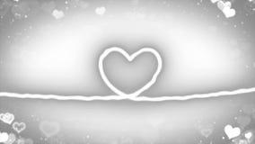 与微粒的心脏线 库存照片
