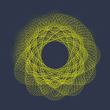 与微粒的被扭屈的圈子形状的现代传染媒介例证 库存图片