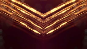与微粒的金无缝的抽象背景 与景深的真正空间、焕发闪闪发光和数字式元素 股票视频