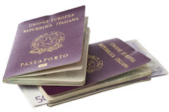 与微芯片的护照 库存照片