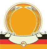 与德国旗子的啤酒标签。传染媒介oktoberfest sym 皇族释放例证