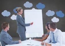 与心智图的业务会议 免版税库存照片