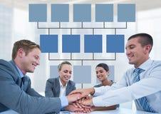 与心智图的业务会议 库存图片