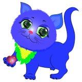 与心脏传染媒介的逗人喜爱的小猫 库存照片