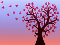 与心脏叶子的爱护树木  皇族释放例证