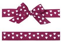 紫色弓和丝带 库存图片