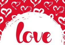 与心脏和爱字法的传染媒介例证 库存例证