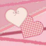 与心脏形式的贺卡 库存图片