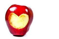 与心脏形状的苹果计算机 库存照片