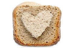 可爱的面包切片 库存照片