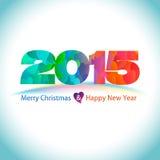 与心脏样式的新年好背景在2015年 免版税库存图片