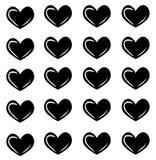 与心脏的传染媒介无缝的样式 心脏印刷品 时尚纹理 皇族释放例证