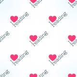 读与心脏的传染媒介爱无缝的样式 免版税图库摄影