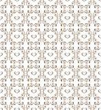 与心脏的典雅的无缝的样式 装饰装饰品backdr 库存照片