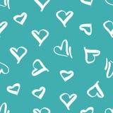 与心脏的图象的无缝的样式 向量例证