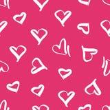 与心脏的图象的无缝的样式 库存例证