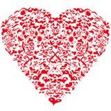 与心脏的小插图 免版税库存图片