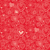 与心脏的情人节样式 库存照片