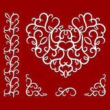 与心脏的情人节样式 库存图片
