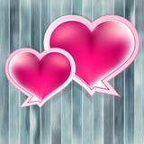 与心脏的情人节背景。+ EPS10 免版税库存图片