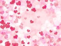 与心脏的情人节背景 库存例证