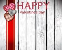 与心脏的愉快的情人节卡片 免版税库存照片