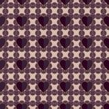 与心脏的抽象几何无缝的样式 库存照片