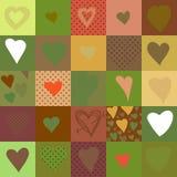 与心脏的无缝的样式,传染媒介例证 免版税库存照片