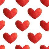 与心脏的无缝的样式 图库摄影