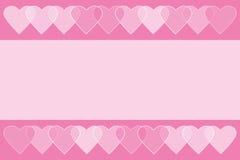 与心脏的浪漫典雅的华伦泰背景 免版税库存照片