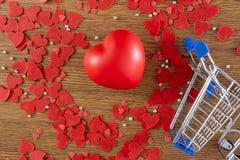 与心脏的美好的情人节概念 免版税图库摄影