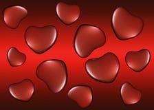 与心脏的背景在情人节 免版税库存照片