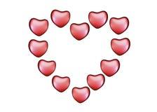 与心脏的背景在情人节 免版税库存图片