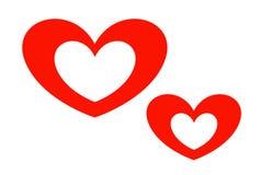 与心脏的贺卡为华伦泰` s天 库存图片