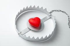 与心脏的陷井 爱是象诱饵 E 免版税库存照片