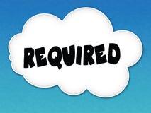 与必需的消息的白色云彩在蓝天背景 库存图片