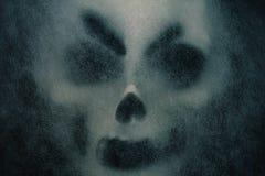 与恐怖的鬼魂面具 免版税库存图片