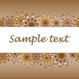 与您的文本空间的花背景  免版税图库摄影