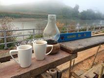 与您的早晨咖啡 免版税库存照片