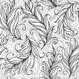 与惊人的羽毛的无缝的样式 向量 免版税库存照片