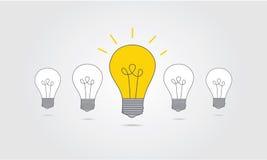 与想法概念的电灯泡象 库存图片