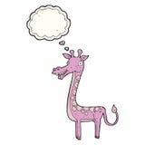 与想法泡影的动画片长颈鹿 库存图片